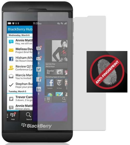 2 ANTI-GLARE/FINGERPRINT LCD SCREEN PROTECTOR SCRATCH SAVER FOR BLACKBERRY Z10