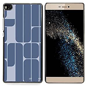 - 78 Year Blue Grey Minimalist Text - - Snap-On Rugged Hard Cover Case Funny HouseFOR HUAWEI P8