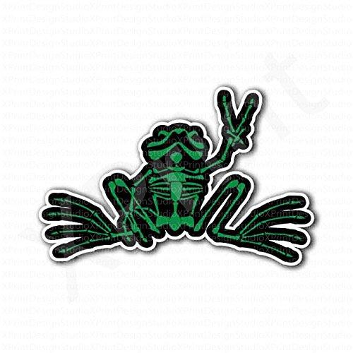 frog-skull-v-sign-victory-peace-sticker