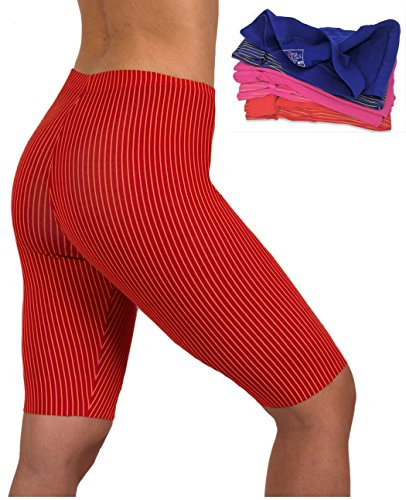 Sexy Basics Women's Capri Knee Length Bermuda Active Legging - Fashion 6 Pack (6 PK- Foil Stripe, XXX-Large) (Foil Sexy)