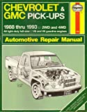 Haynes Chevrolet and GMC Pick-ups 88-93, John H. Haynes, 1563920786