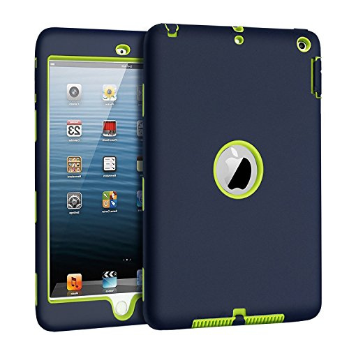 (New iPad 9.7 Inch 2018/2017 Case, UZER Heavy Duty Shockproof Anti-slip Silicone High Impact Resistant Hybrid Three Layer hard PC+Silicone Armor Protective Case Cover for New iPad 9.7 inch)