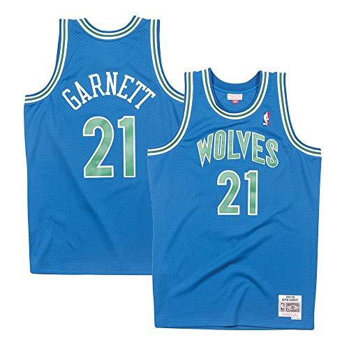 Mitchell & Ness Basketball Jersey - Mitchell & Ness Minnesota Timberwolves Kevin Garnett 95-96 Road Swingman Jersey (Small)