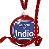 Christmas Decoration Sign Welcome To Indio Ornament