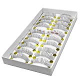 LTop eyelash 10 Pairs of Reusable Natural and Regular Long False Eyelashes (Style 1) by Nails gaga