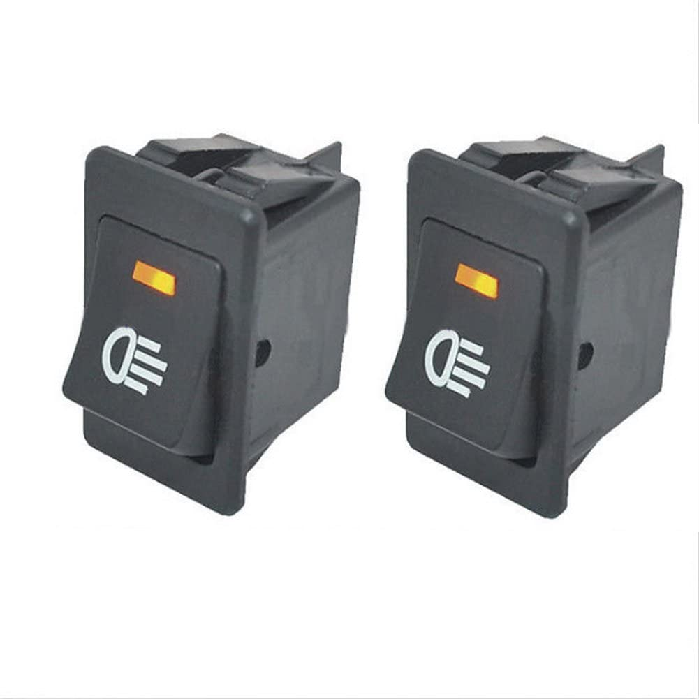 HOTSYSTEM Interruptor basculantes universal 12V 35A de 4 pines con luz de LED para instalar vehiculo,moto,barco,etc,luz de color naranja x 2 unidades