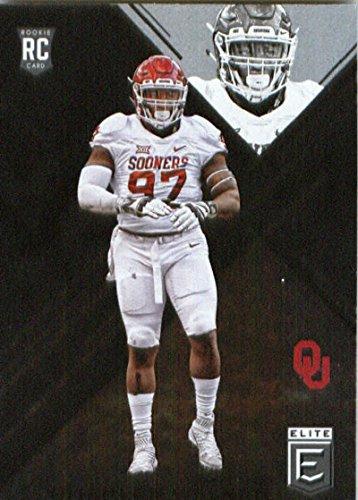 Oklahoma Sooners Collectibles - 2017 Panini Elite Draft Picks Draft Picks #147 Charles Walker Oklahoma Sooners Football Card