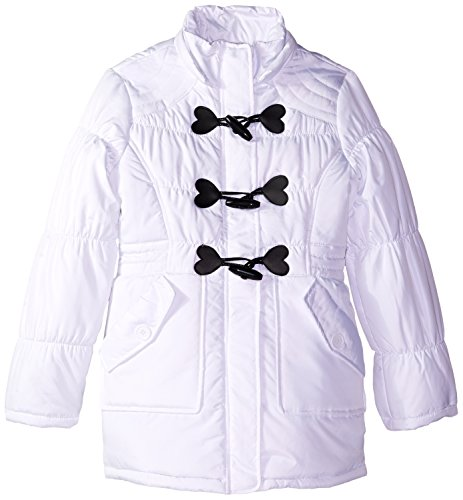 Big Republic White Girls' Polyester Urban Closure Toggle Fill Jacket qT5xdg8x
