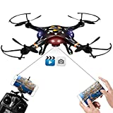 DBPOWER FPV Drone with HD Wifi Camera Live Video, Altitude Hold and One Key Taking-off & Landing, Phone Controlled RC Quadcopter