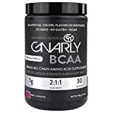 Gnarly Nutrition BCAA Workout Supplement || All Natural Muscle Recovery (Berry Lemonade) For Sale