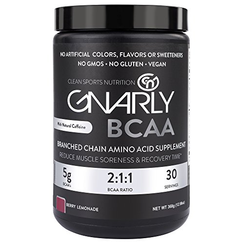 Gnarly Nutrition BCAA Workout Supplement || All Natural Muscle Recovery (Berry Lemonade)