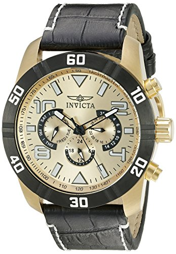 Invicta Men's 21476 Pro Diver Analog Display Swiss Quartz Black Watch