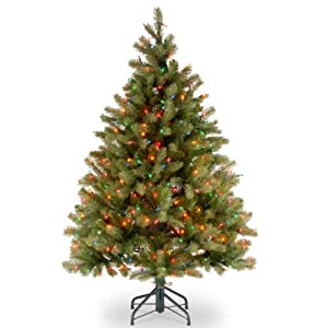 National Tree Downswept Douglas Fir Tree with Multicolor Lights 48