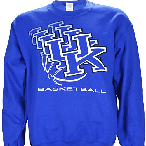 UK 3D Crewneck NCAA University of Kentucky Wildcats on a Blue Sweatshirt