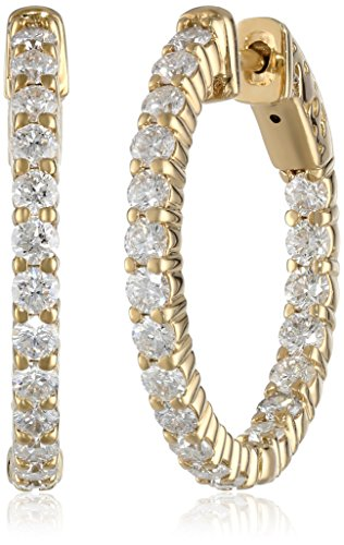 14kt-Yellow-Gold-Diamond-Inside-and-Outside-Shared-Prong-Hoops-2-Cttw-H-I-Color-I1Clarity