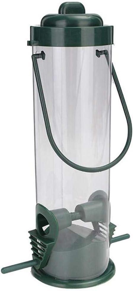 Sortim Plástico Aves Silvestres Agua Alimentador 4 Port Bebedor Plato Colgante Trampa para el Jardín Nuevo
