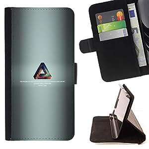 Momo Phone Case / Flip Funda de Cuero Case Cover - Triángulo de la galaxia;;;;;;;; - HTC Desire 626