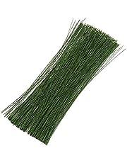 Kingrol 600 Pieces Stem Wire Floral Wire, Flower Arrangement Bouquets Wrapping Wire, 14 Inch 26 Gauge Bind Wire for DIY Crafts