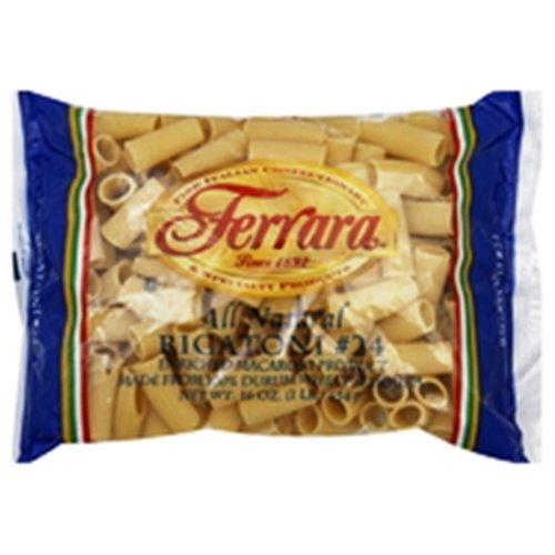 Ferrara Pasta, Rigatoni, 16 Ounce (Pack of 20)
