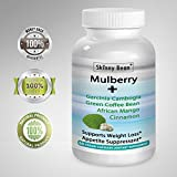 .-=STRONG=-. White Mulberry PLUS + Garcinia, African Mango, Cinnamon, Green tea Extract