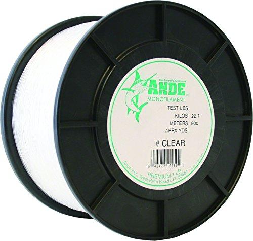 (ANDE A1-30C Premium Monofilament, 1-Pound Spool, 30-Pound Test, Clear Finish)