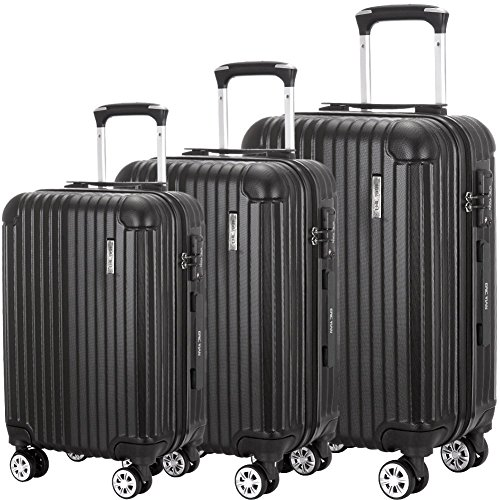 Cheap Luggage Set 3 Piece ABS Trolley Suitcase Spinner Hardshell Lightweight Suitcases TSA