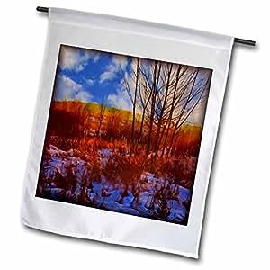 Susan Brown Designs Nature Themes - Sunset Grass - 12 x 18 inch Garden Flag (fl_48136_1)
