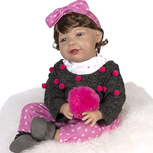 Paradise Galleries Realistic Toddler Doll - I Love You More with Magnetic Mouth and Pacifier, 21 inch in SoftTouch Vinyl, 8-Piece Reborn Doll Gift Set