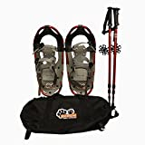New MTN Extreme Lightweight All Terrian Man Woman Kid Teen Snowshoes +Pole + Free Bag (19inch)