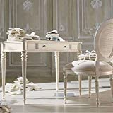 Aoleen Vintage vanity dressing table set makeup desk White bedroom
