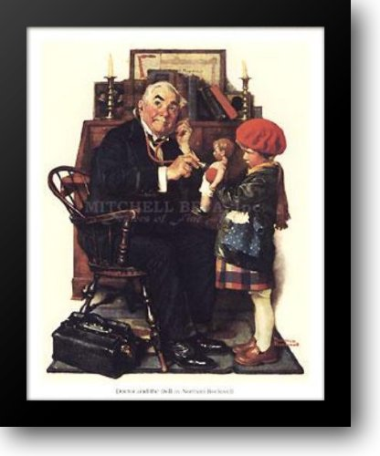 Doctor and the Doll 16x19 Framed Art Print by Rockwell, Norman (Norman Rockwell Dolls)