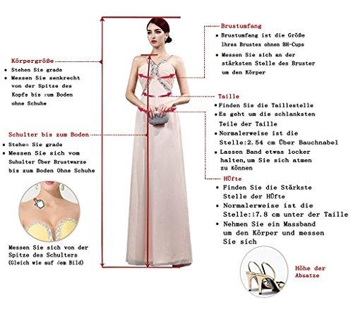 Chiffon Blau Aiyana Rueckenfrei Brautkleid Schnuerung Kleid Abendkleid Rueckenfrei Langes Linie A Spitze EA1qAP