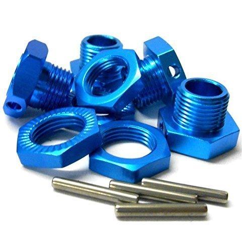 T10065 1//8 RC M17 17mm Alloy Wheel Hubs Adapter Nut Pin Light Blue x 4