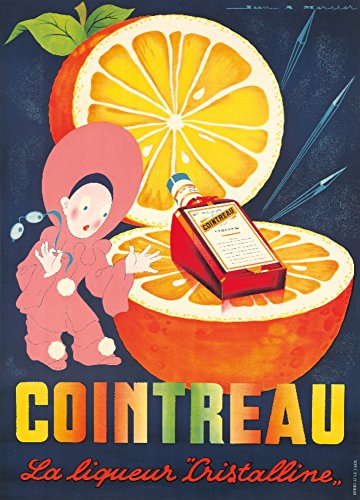 Cointreau Vintage Poster (artist: Mercier) France c. 1938 (36x54 Giclee Gallery Print, Wall Decor Travel Poster)