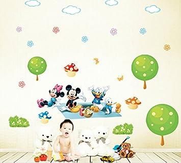 Art Toile Disney Mickey Mouse Decor Vinyl Decal Sticker Wand Creche