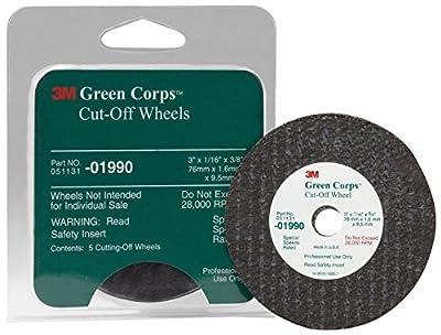 "3M Green Corps 3"" x 1/16"" x 3/8"" Cut-Off Wheel"