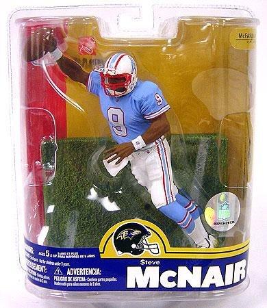 Variant Mcfarlane Toys - Steve McNair #9 Houston Oilers Blue Jersey Variant Chase Alternate Action Figure McFarlane NFL Series 16 by McFarlane Toys