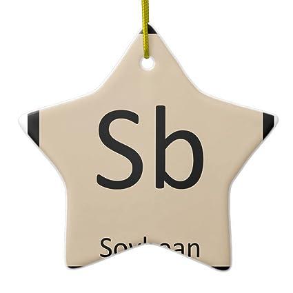 Amazon zazzle sb soybean chemistry periodic table symbol zazzle sb soybean chemistry periodic table symbol metal ornament star urtaz Choice Image