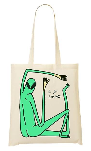Green Alien Does Yoga ? Bolso De Mano Bolsa De La Compra ...