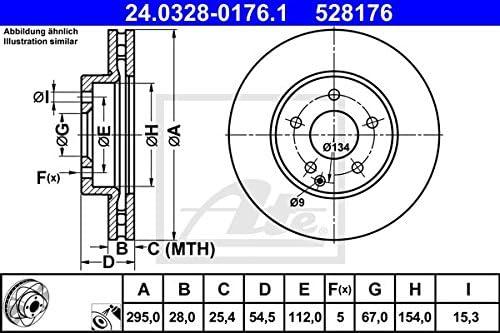 ATE 24.0328-0176.1 Bremsscheiben Set of 2