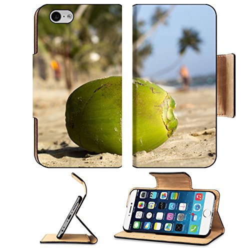 Luxlady Premium Apple iPhone 6 iPhone 6S Flip Pu Leather Wallet Case IMAGE ID: 34679200 Coconut on the beaches of Vietnam (Res Vietnam)