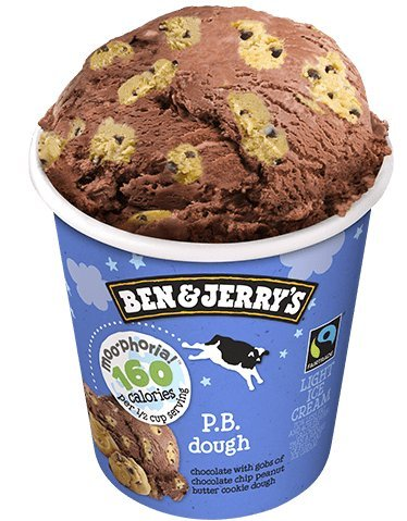 Ben & Jerry's, Moo-Phoria P.B. Dough, Pint (8 Count)