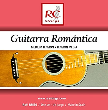 Royal Classics RM60 Guitarra Romantica Nylon Guitar Strings, Custom  Calibrated for 19th Century Instruments