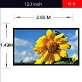 Excelvan Outdoor Portable Movie Screen 120 Inch 16:9 Home Cinema Projector Screen, PVC Fabric