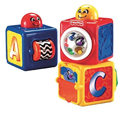 Fisher-Price Bright Beginnings Stacking Action Blocks by Fisher-Price