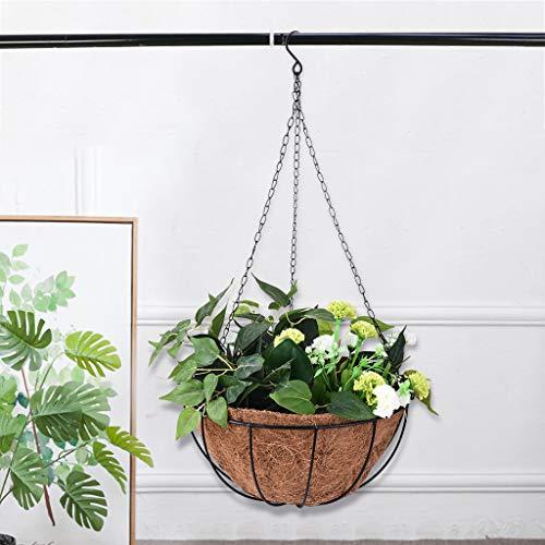 LLJEkieee Hanging Basket Metal Hanging Flower Basket for Coconut Lining Rope Baskets, or Plant Pots