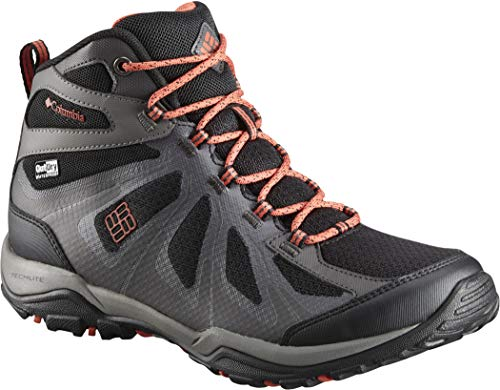 XCRSN Black Xcel Columbia Basses de Randonnée Outdry II Mid Canyon Red Femme Peakfreak Chaussures aqnw5n1P
