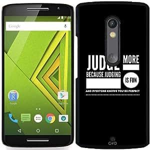 Funda para Motorola Moto X Play - Juzgar Más by wamdesign