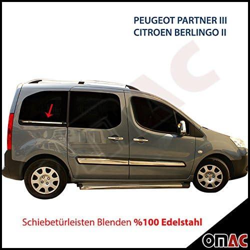 Cromo puerta corredera listones paneles 2tlg Citroen Berlingo/Peugeot Partner Tepee 2008 – 2012: Amazon.es: Coche y moto