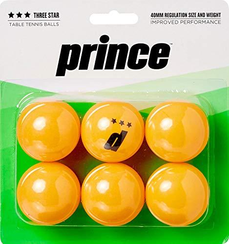 Prince Ball Tennis (Prince Three-Star Orange Table Tennis Balls 6 Pack)